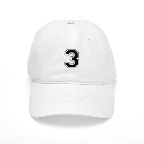 Varsity Font Number 3 Black Cap