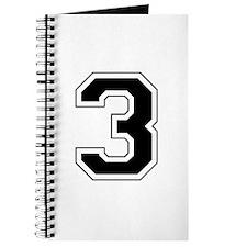Varsity Font Number 3 Black Journal