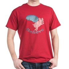 Flying Pig Design T-Shirt