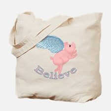 Flying Pig Design Tote Bag