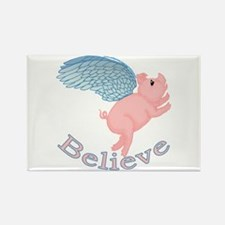 Flying Pig Design Rectangle Magnet