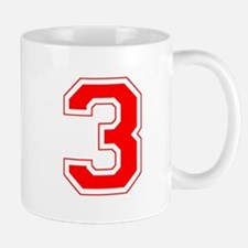 Varsity Font Number 3 Red Mug