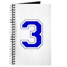 Varsity Font Number 3 Blue Journal