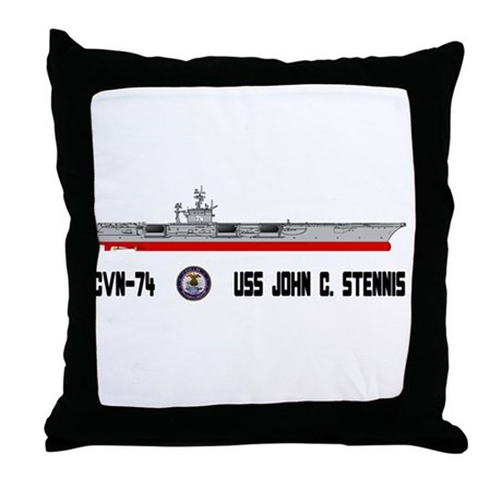 USS Stennis CVN-74 Throw Pillow