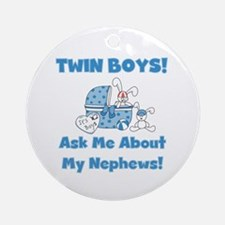 Aunt Twin Boys Ornament (Round)