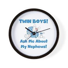 Aunt Twin Boys Wall Clock