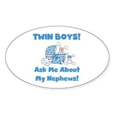 Aunt Twin Boys Oval Decal