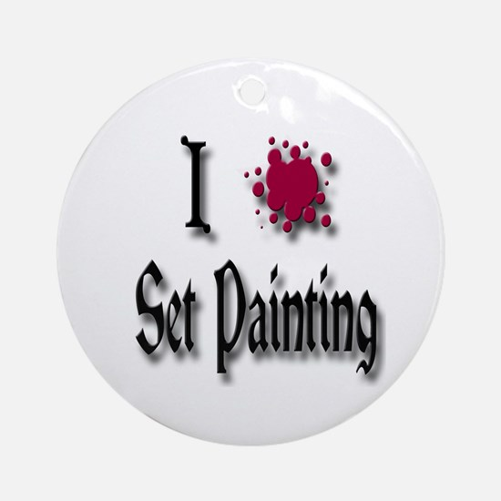 Love Set Painting Ornament (Round)