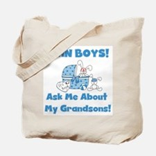 Grandma Twin Boys Tote Bag