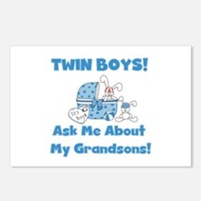 Grandma Twin Boys Postcards (Package of 8)
