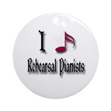 Love Rehearsal Pianists Ornament (Round)
