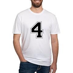 Varsity Font Number 4 Black Shirt
