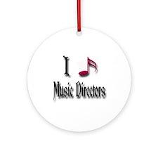 Love Music Directors Ornament (Round)