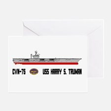 USS Truman CVN-75 Greeting Card
