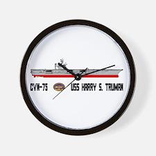 USS Truman CVN-75 Wall Clock