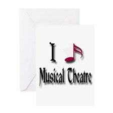 Love Musical Theatre Greeting Card