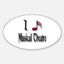 Love Musical Theatre Oval Decal