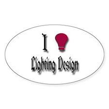 Love Lighting Design Oval Decal