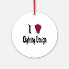 Love Lighting Design Ornament (Round)