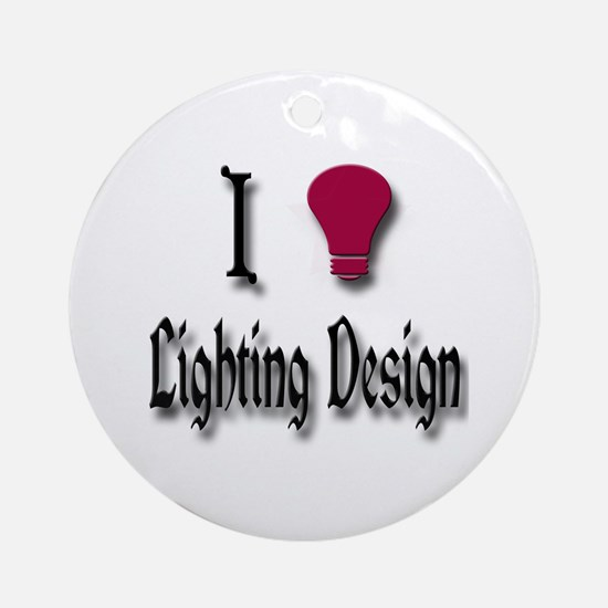 Love Lighting Design Ornament (Round)