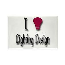 Love Lighting Design Rectangle Magnet