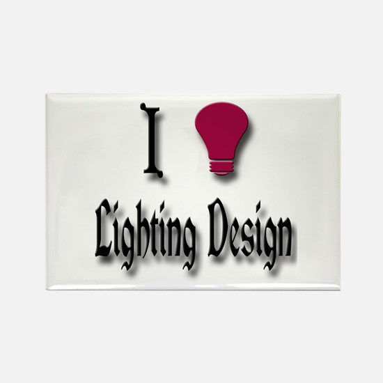 Love Lighting Design Rectangle Magnet