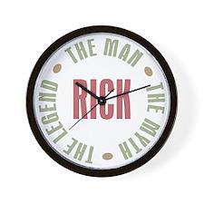 Rick Man Myth Legend Wall Clock