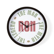 Ron Man Myth Legend Wall Clock