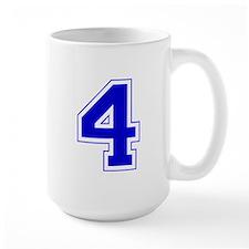Varsity Font Number 4 Blue Mug