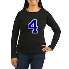 Varsity Font Number 4 Blue T-Shirt