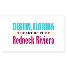 Destin, Redneck Riviera - Rectangle Decal