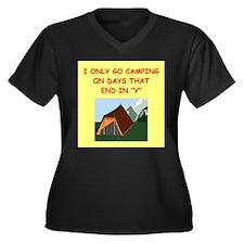 camping gifts t-shirts Women's Plus Size V-Neck Da
