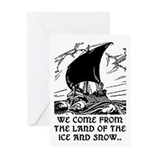 THE LAND OF ICE AND SNOW Greeting Card