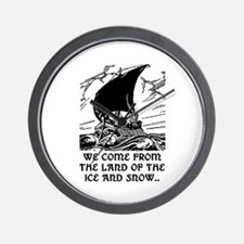 THE LAND OF ICE AND SNOW Wall Clock