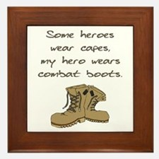 Some Heroes Wear Capes Framed Tile