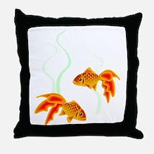 Chinese Koi Goldfish Throw Pillow