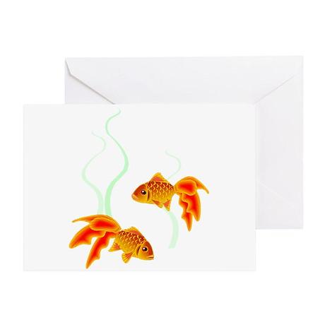 Chinese Koi Goldfish Greeting Card