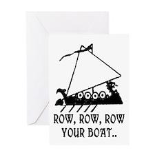 ROW, ROW, ROW YOUR BOAT Greeting Card