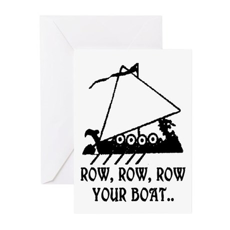 ROW, ROW, ROW YOUR BOAT Greeting Cards (Pk of 20)