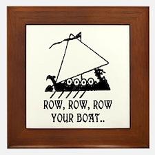 ROW, ROW, ROW YOUR BOAT Framed Tile