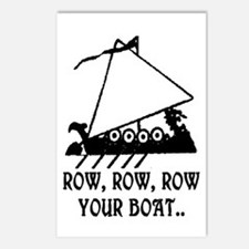 ROW, ROW, ROW YOUR BOAT Postcards (Package of 8)