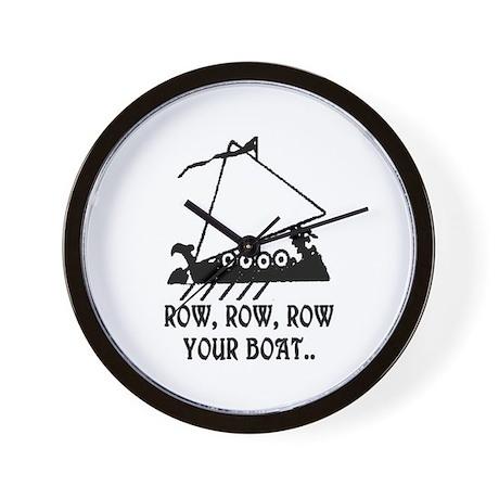 ROW, ROW, ROW YOUR BOAT Wall Clock