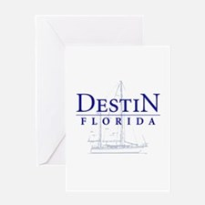 Destin Sailboat - Greeting Card