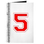 Varsity Font Number 5 Red Journal