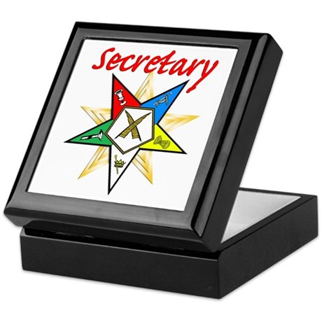 Eastern Star Secretary Items Keepsake Box