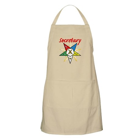 Eastern Star Secretary Items BBQ Apron
