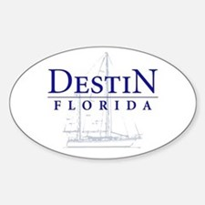Destin Sailboat - Oval Decal