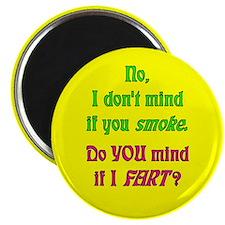 """""""Smoke - Fart"""" Magnet (Yellow)"""