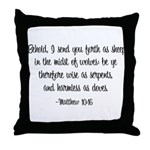 Sheep in the Midst of Wolves Throw Pillow