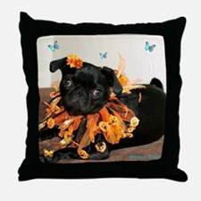 Pumpkin Ruff Throw Pillow